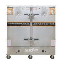 Tủ nấu cơm 24 khay dùng điện & gas Việt Nam (120kg gạo/lần)